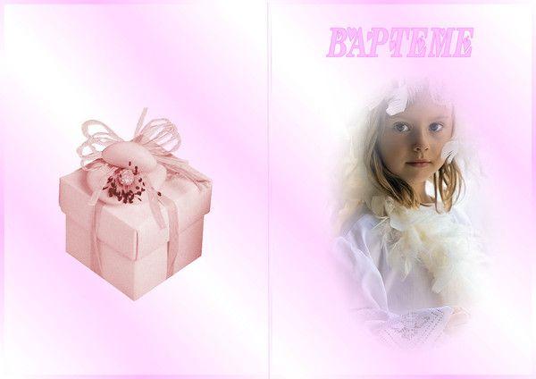 Carte pour Bapteme. 04327826
