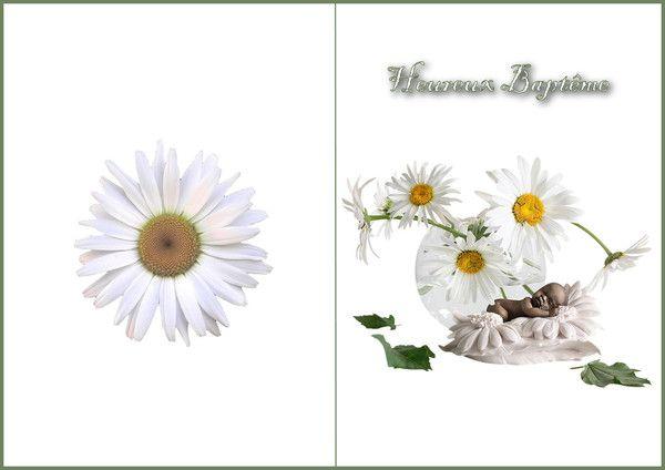 Carte pour Bapteme. 0538f274