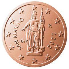 euros Saint Marin 2 cts