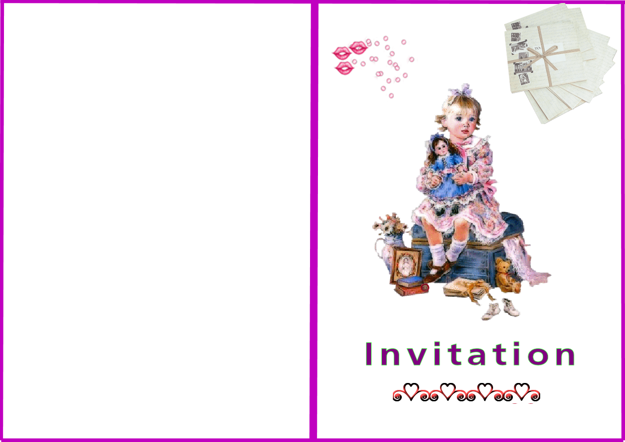Gut bekannt carte invitation a imprimer GB27