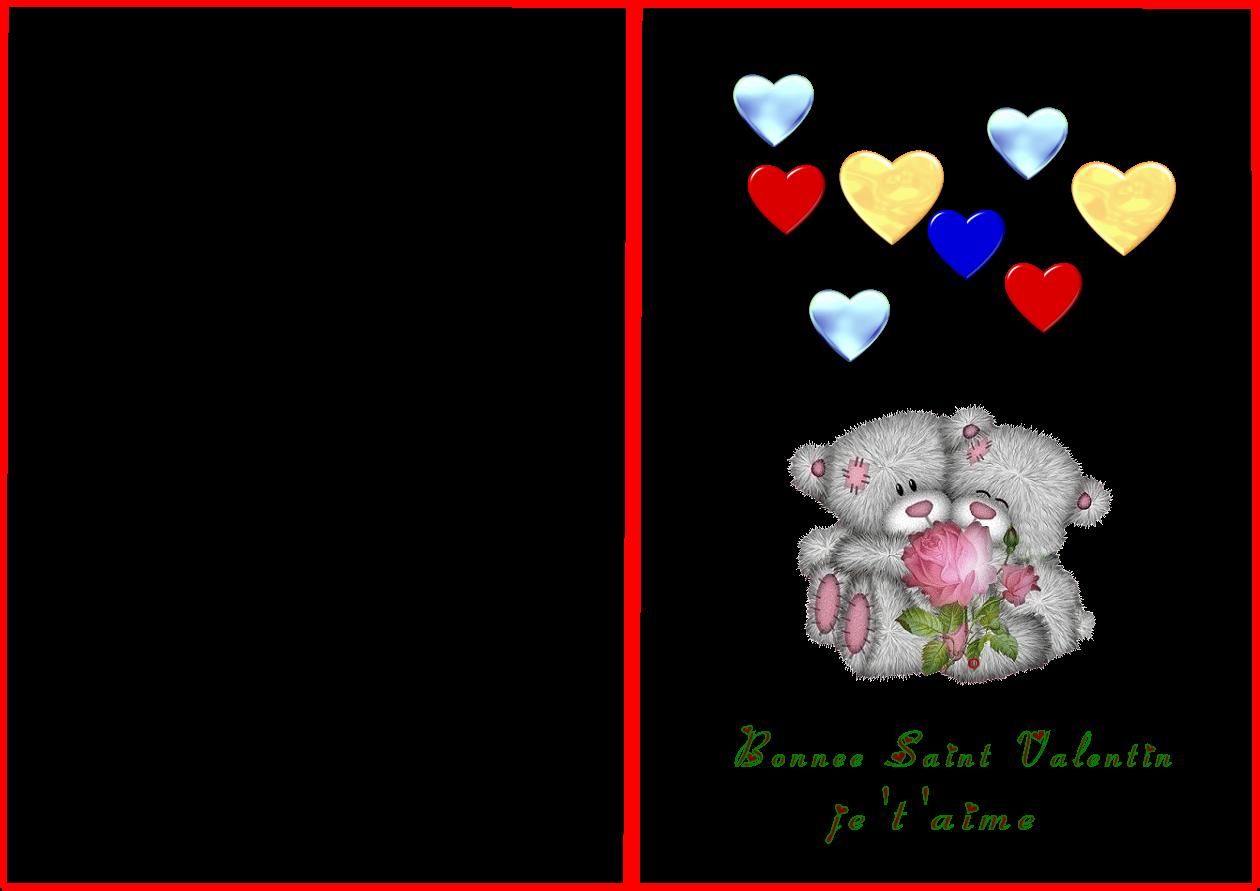 carte saint valentin à imprimer carte saint valentin