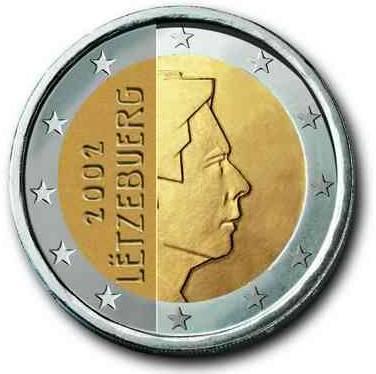 euros Luxembourg 2 euros