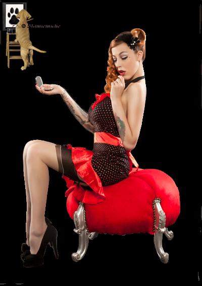 tube femme rouge