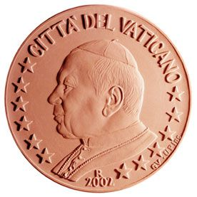 euros Le Vatican 1 ct 2cts 5 cts