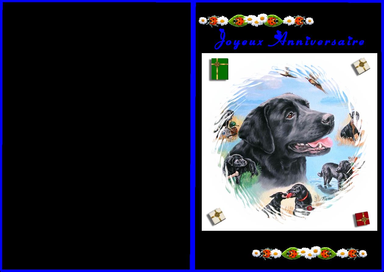 carte anniversaire de chien a imprimer