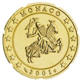 euros Monaco 10 cts 20 cts 50 cts