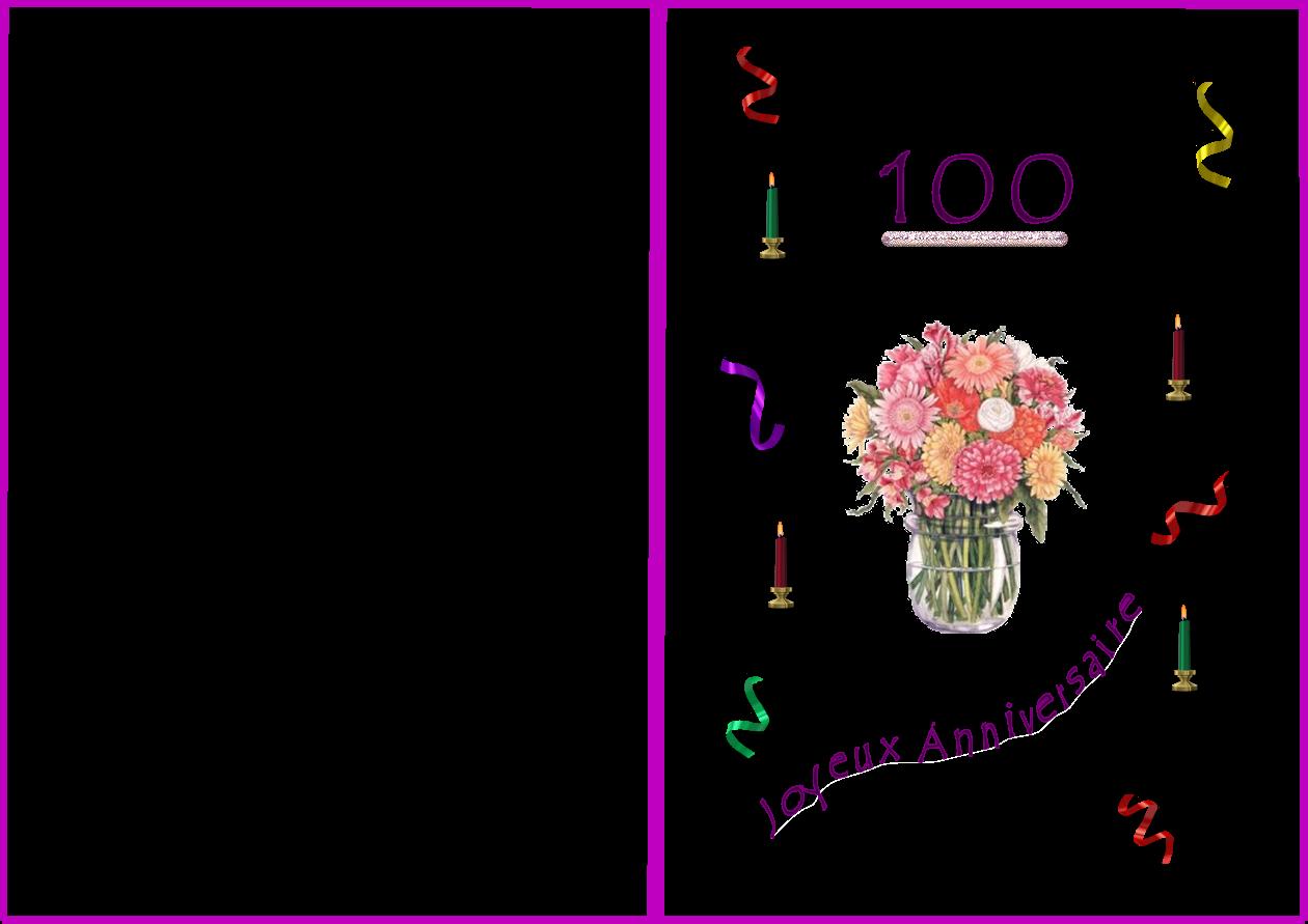 Carte Menu Anniversaire 80 Ans EG08