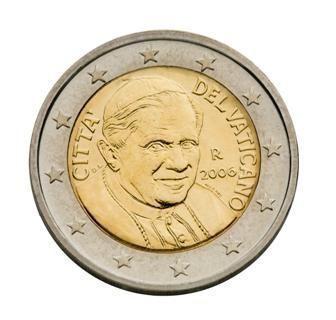 euros Le Vatican 2 euros Benoit XVI