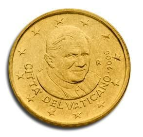 euros Le Vatican 10cts 20 cts 50 cts Benoit XVI