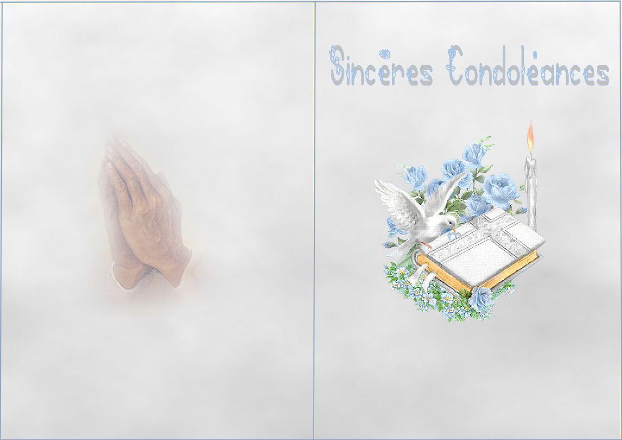 Carte A Imprimer Condoleances