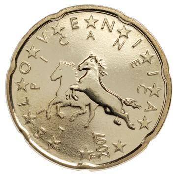 euros Slovénie 20cts