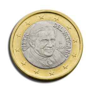 euros Le Vatican 1 euro Benoit XVI