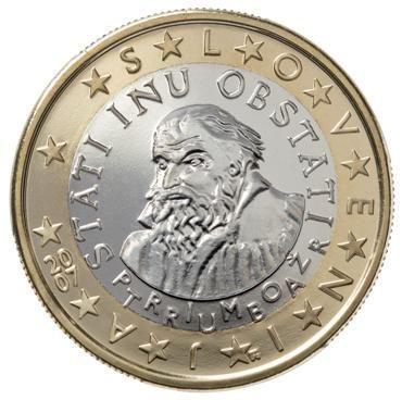 euros Slovénie 1 euro
